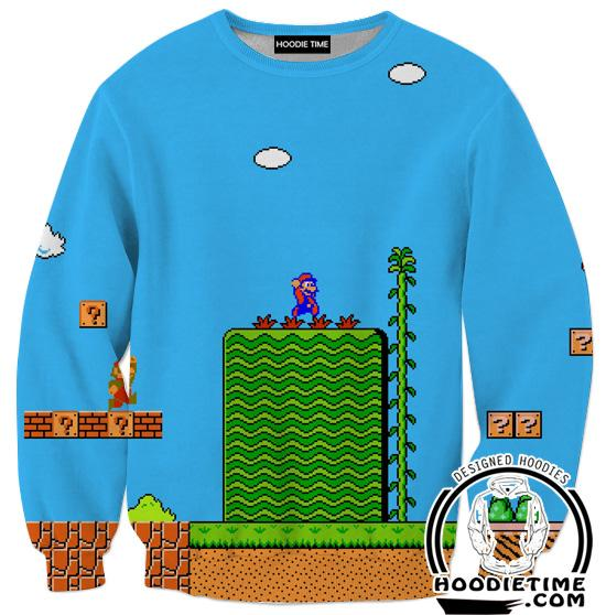 Super Mario Sweatshirt - Mario Level Sweaters - Video Game Clothes