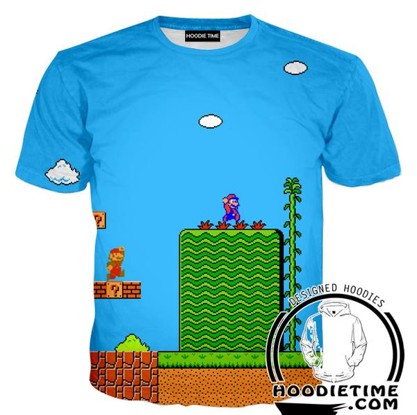 Super Mario T-Shirt  - Mario Level Shirts - Video Game Clothes