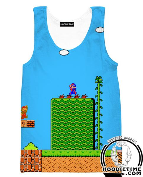 Super Mario Tank Top - Mario Level Gym Shirts - Video Game Clothes