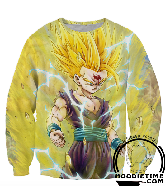 Dragon Ball Z Sweaters - Super Saiyan 2 Gohan Sweatshirt - 360 3D Clothing-Hoodie Time - Anime and Gaming Hoodies