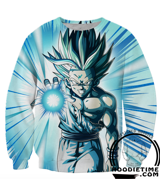 Dragon Ball Z Sweaters - Super Saiyan 2 SSJ2 Gohan Kamehameha Sweatshirt - 360 DBZ Clothing-Hoodie Time - Anime and Gaming Hoodies
