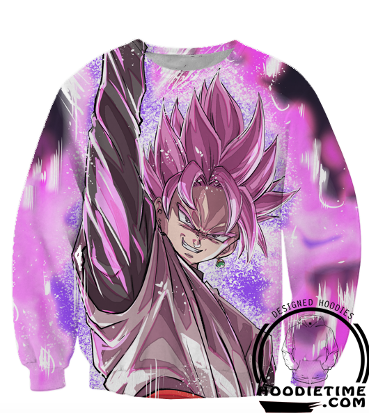 Dragon Ball Super Z Sweaters - Super Saiyan Black Rose Sweatshirt - 360 3D Clothing-Hoodie Time - Anime and Gaming Hoodies