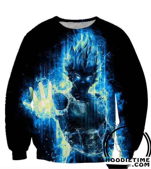 Dragon Ball Super Z Sweaters - Super Saiyan Blue Vegeta Sweatshirt - 360 3D Clothing-Hoodie Time - Anime and Gaming Hoodies