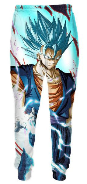 Super Saiyan Blue Vegito Vegetto Sweatpants - Dragon Ball Z Pants - 3D Printed DBZ Clothing-Hoodie Time - Anime and Gaming Hoodies