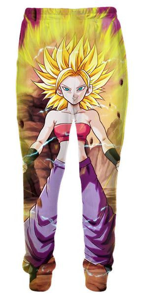 Super Saiyan Caulifla Sweatpants - Dragon Ball Z Pants - 3D Printed DBZ Clothing-Hoodie Time - Anime and Gaming Hoodies