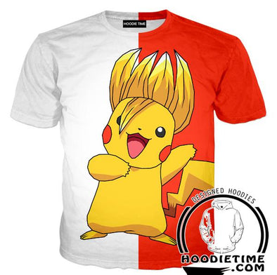 Super Saiyan Pikachu T-Shirt - Pokemon x Dragon Ball Cross Shirts-Hoodie Time - Anime and Gaming Hoodies