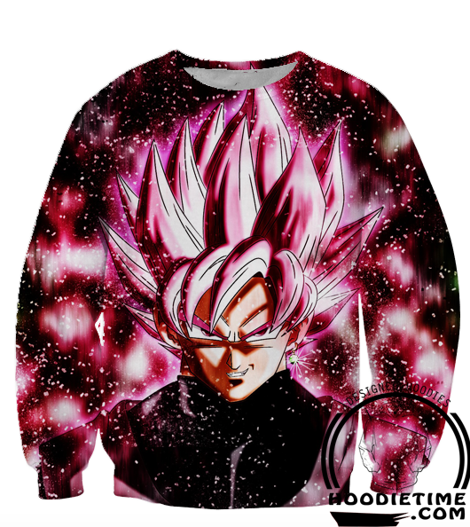 Dragon Ball Z Sweaters - Super Saiyan Rose Black Goku Sweatshirt - 360 3D Clothing-Hoodie Time - Anime and Gaming Hoodies