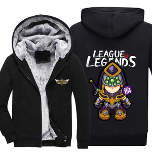 League of Legends - Master Yi - Winter Zip-up Fleece Hoodie-Hoodie Time - Anime and Gaming Hoodies