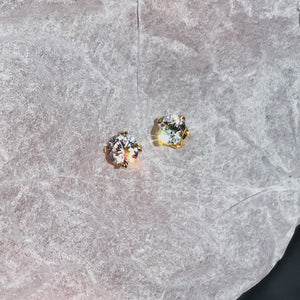 14k Gold Filled Hand Made Jewelry Gift - Delicate Gold Tiny Zircon Ear Studs Daily Ear Nails-Hoodie Time - Anime and Gaming Hoodies