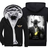 League of Legends - Twisted Fate - Winter Zip-up Fleece Hoodie-Hoodie Time - Anime and Gaming Hoodies