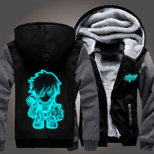 League of Legends - Ezreal - Winter Zip-up Glow in Dark Fleece Hoodie-Hoodie Time - Anime and Gaming Hoodies