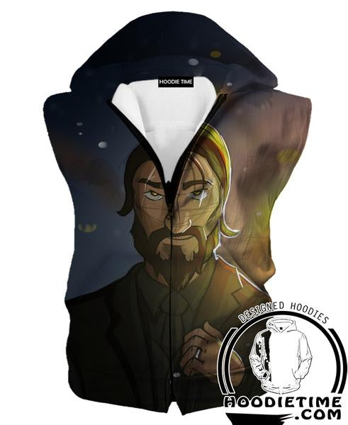 The Reaper Fortnite Hooded Tank - Reaper Skin Hoodies and Clothing