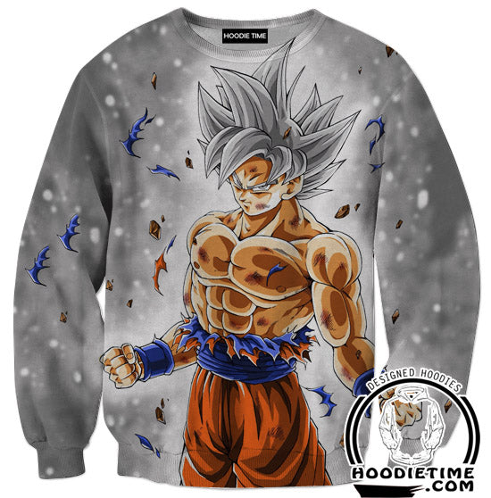 Silver Mastered Ultra Instinct Goku Hoodie - Dragon Ball Super Hoodies Clothing-Hoodie Time - Anime and Gaming Hoodies