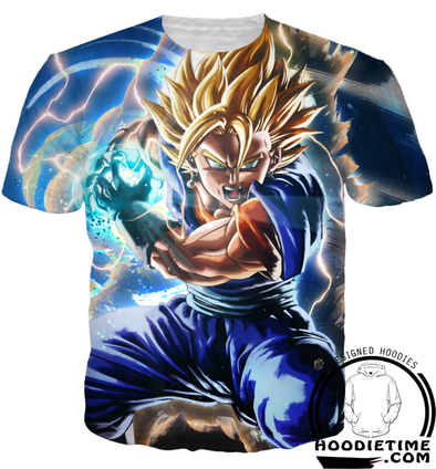 Super Saiyan Vegito Final Kamehameha T-Shirt 3d dragon ball z clothes shirts