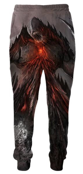 Volcanic Monster Sweatpants - Fantasy Pants- 3D Clothing-Hoodie Time - Anime and Gaming Hoodies