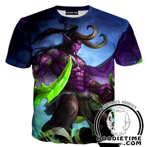 Warcraft T-Shirt - Illidan Shirts - Video Game Clothing