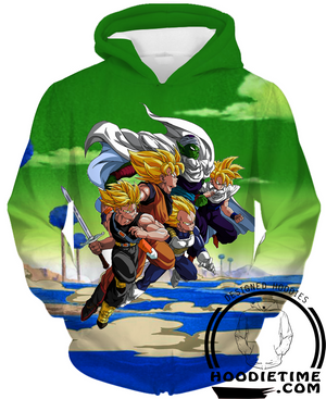 Dragon Ball Z - Z Warriors - Goku, Trunks, Vegeta, Piccolo, Gohan Hoodie - Pullover 3D Hoodie-Hoodie Time - Anime and Gaming Hoodies