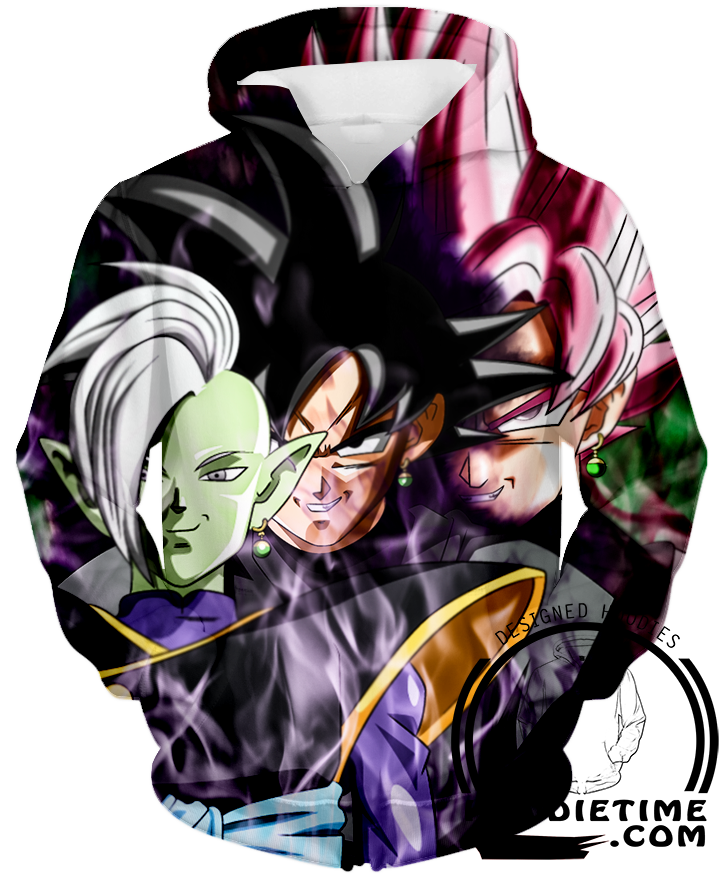 Zamasu black goku hoodie dragon ball z super hoodies