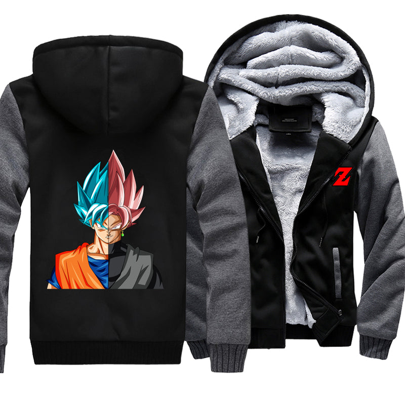 Goku black fleece jacket