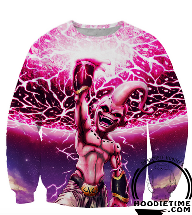 Kid Buu Ki Blast Sweatshirt Dragon Ball Z Vegito Boo