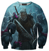 Witcher 3 Hoodies - Geralt vs Monsters Hoodie - 360 Printed Clothing-Hoodie Time - Anime and Gaming Hoodies