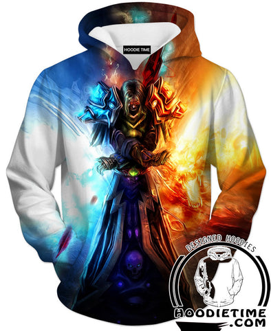 World of Warcraft Mage fire and ice hoodie hoodies