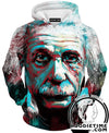 Colorful Albert Einstein Hoodie - Full Printed Hoodies Clothing-Hoodie Time - Anime and Gaming Hoodies