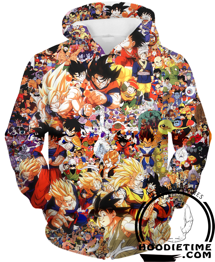All dragon ball characters hoodie t-shirt sweatshirt
