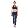 beautiful colorful navy blue yoga pants