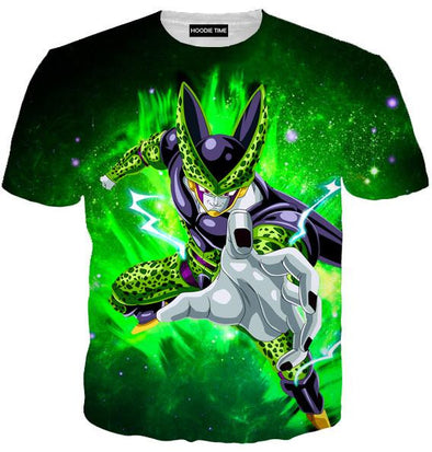 Dragon Ball Z Shirts - Super Perfect Cell T-Shirt - DBZ Full Printed Clothing-Hoodie Time - Anime and Gaming Hoodies