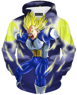 Final Flash Vegeta Hoodie - Dragon Ball Z Hoodies - DBZ Full Printed Clothing-Hoodie Time - Anime and Gaming Hoodies