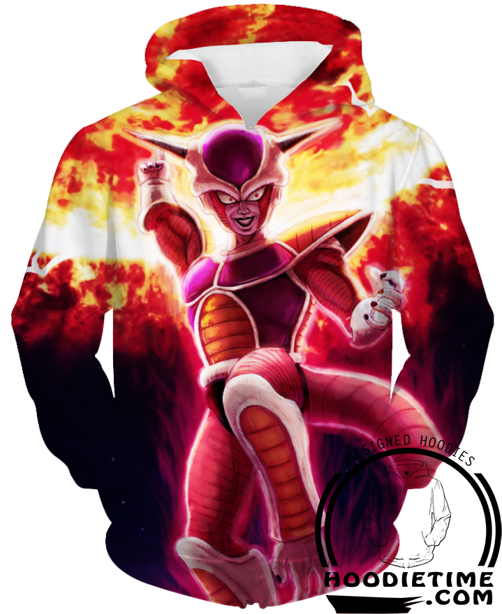 Dragon Ball Z - Freeza Destruction Vegeta Hoodie - Pullover 3D hoodie-Hoodie Time - Anime and Gaming Hoodies