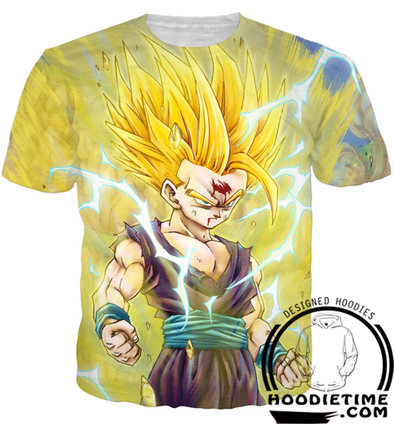 Dragon Ball Z - Super Saiyan 2 Gohan Hoodie - Pullover 3D hoodie-Hoodie Time - Anime and Gaming Hoodies