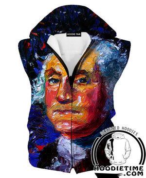 George Washington Face Hoodie - George Washington Clothing-Hoodie Time - Anime and Gaming Hoodies