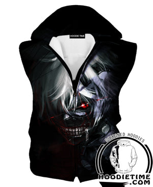Black Tokyo Ghoul Hoodie - Dark Ken Kaneki Clothes-Hoodie Time - Anime and Gaming Hoodies