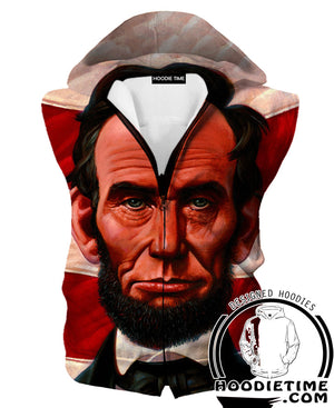 Abraham Lincoln Hoodie - American Political Clothing-Hoodie Time - Anime and Gaming Hoodies