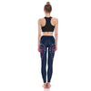 beautiful colorful navy blue yoga pants sexy and stylish