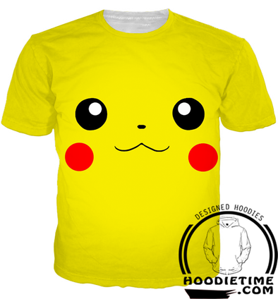 Pokemon - Pikachu Face T-Shirt - 3D Shirt-Hoodie Time - Anime and Gaming Hoodies
