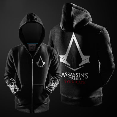 Assassins Creed Syndicate and Black Flag Zip-Up Hoodie-Hoodie Time - Anime and Gaming Hoodies