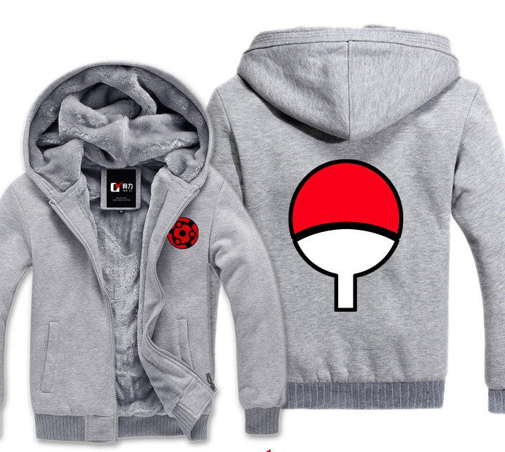 Naruto Uchiha Zip-up Warm Hoodie - Blue, Black, Grey and more!-Hoodie Time - Anime and Gaming Hoodies