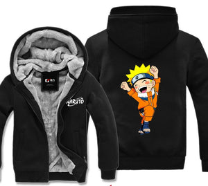 Cute Naruto Winter Zip-up Hoodie Jacket-Hoodie Time - Anime and Gaming Hoodies