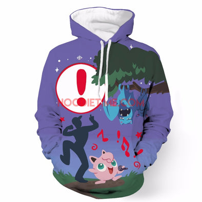 Pokemon Go - Jigglypuff - 3D Pullover hoodie-Hoodie Time - Anime and Gaming Hoodies