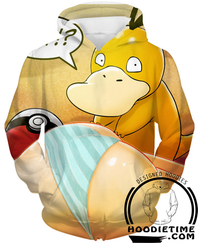 Pokemon - Psychduck and Misty Hoodie - Pullover 3D Hoodie-Hoodie Time - Anime and Gaming Hoodies