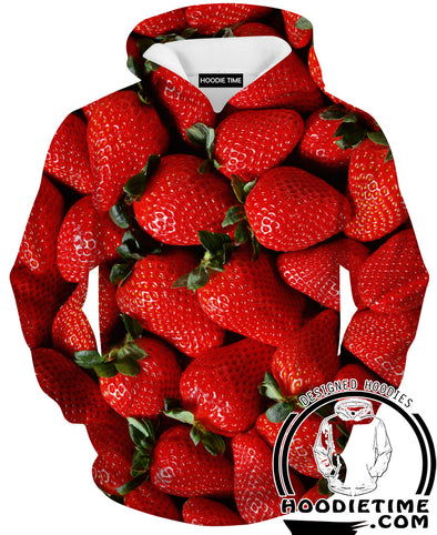 Strawberry Hoodie HOodies clothing