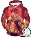 Cool Natsu Hoodie - Fairy Tail Hoodies - Double Printed Clothing-Hoodie Time - Anime and Gaming Hoodies