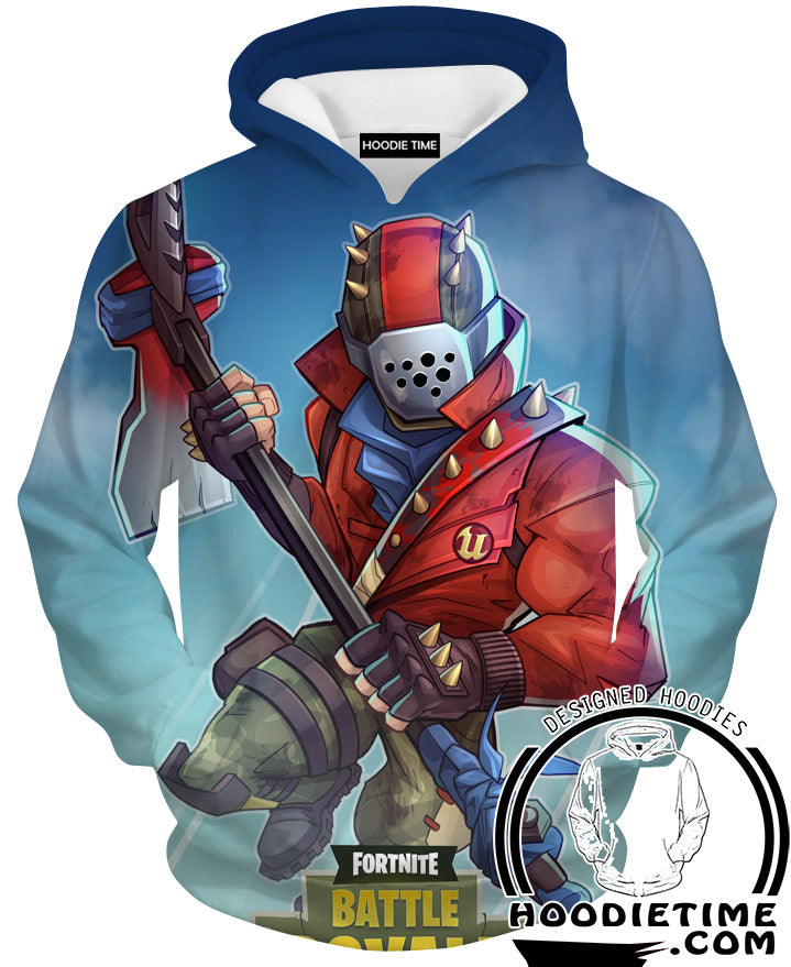 Fortnite Hoodies - Red Knight Fortnite Hoodie - Fortnite Clothes-Hoodie Time - Anime and Gaming Hoodies