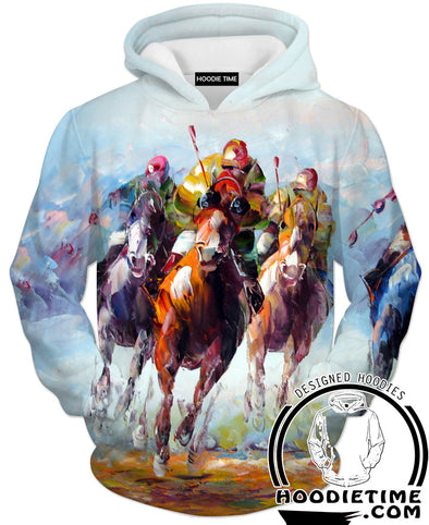 Thoroughbred Horse Racing Hoodie