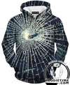 Broken Glass Window Hoodie - Designed 3D Hoodies - Double Printed Clothing-Hoodie Time - Anime and Gaming Hoodies