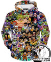 All Dragon ball character hoodie
