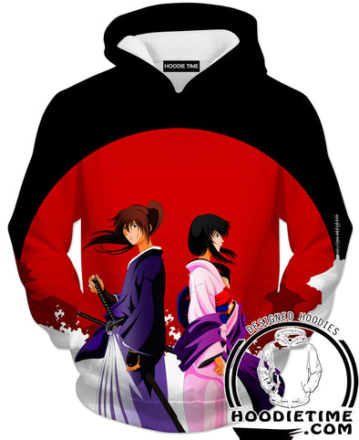 Rurouni Kenshin Hooodies - Kenshin and Kaoru Hoodie - Anime Clothing-Hoodie Time - Anime and Gaming Hoodies